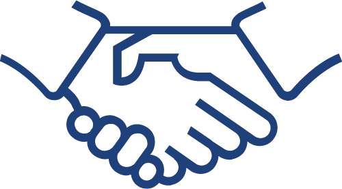 Drawing of two hands shaking hands