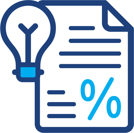 An illustration to depict using a budget worksheet
