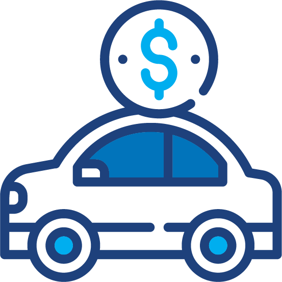 A graphical illustration of a car loan