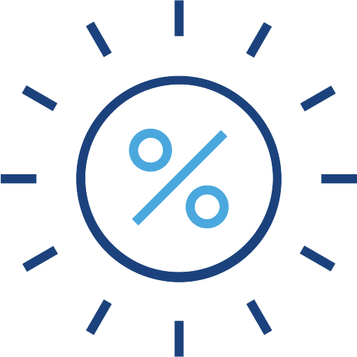 Graphical icon of a percentage sign