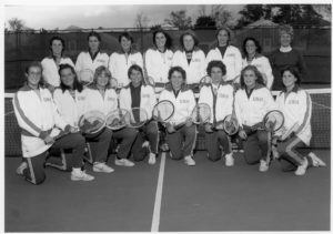 1979-1980 UNH Women's Tennis team Credit: Milne Special Collections and Archives Department, University of New Hampshire Library, Durham, N.H.