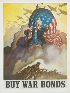 One of the more than two dozen original World War II Propaganda Posters on display at Service Credit Union through November 16.