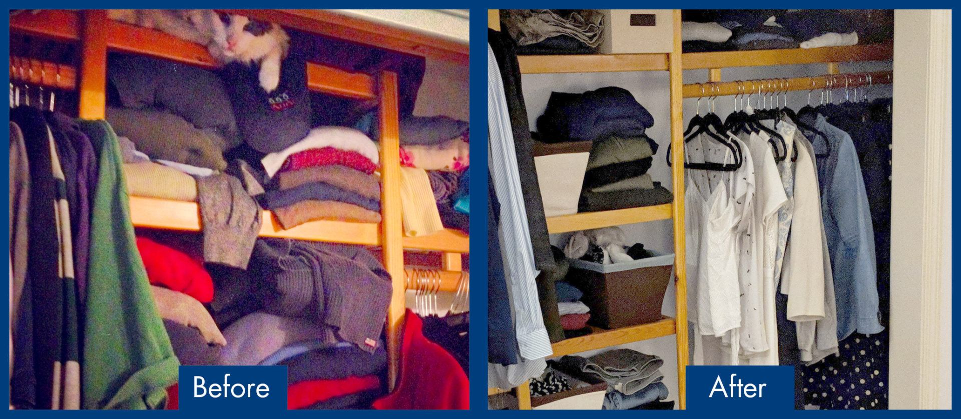 Capsule Wardrobe Before and After