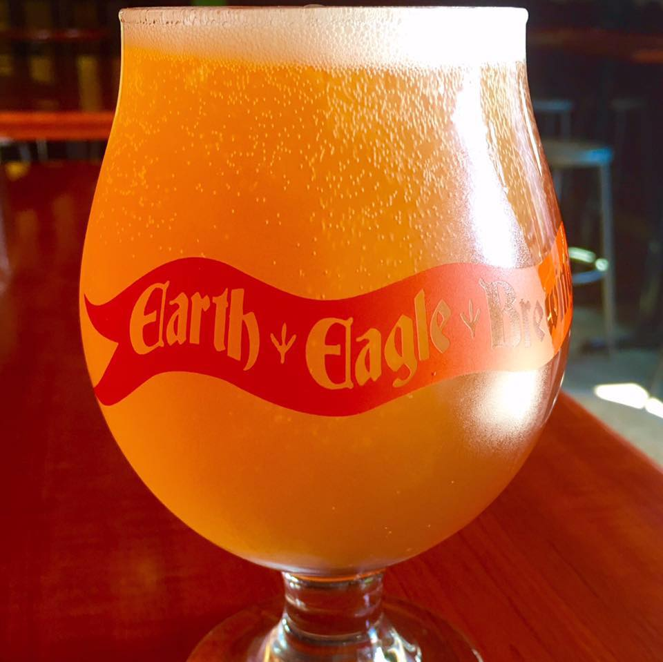Beer on tap at Earth Eagle Brewing