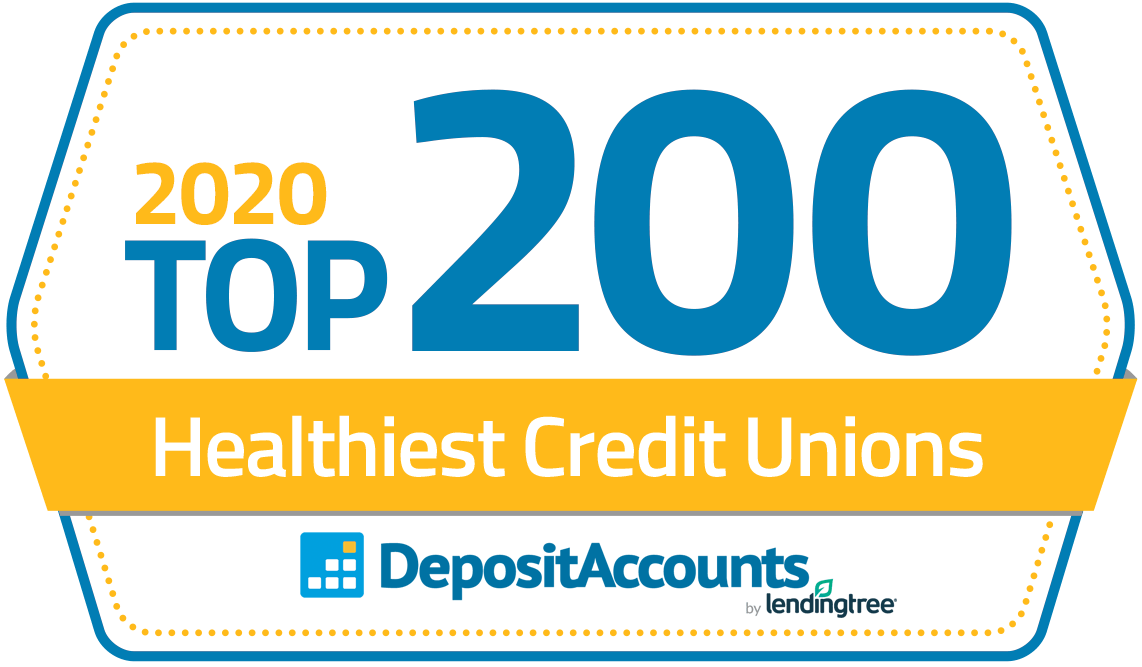 Top 200 healthiest credit unions badge