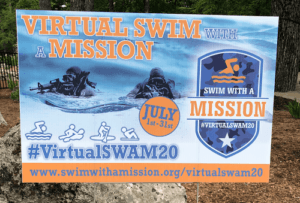 Swim with a Mission sign