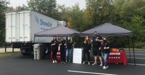 Service CU team at the Shred event