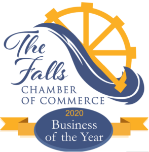 The Falls Chamber of Commerce - 2020 Business of the Year Logo