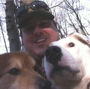Bryan Harris with his dogs