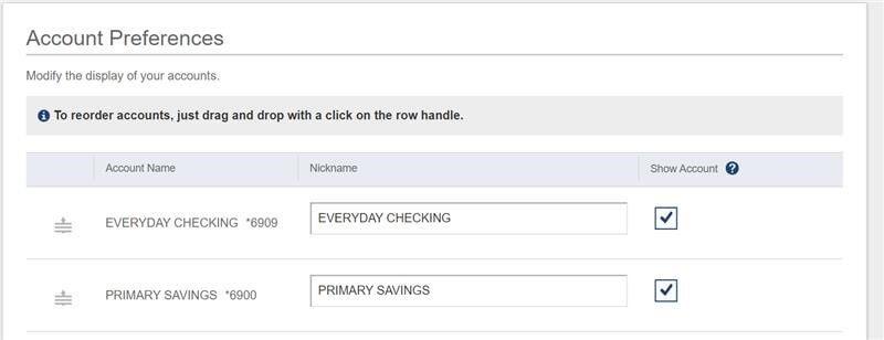 Account Preferences Screenshot